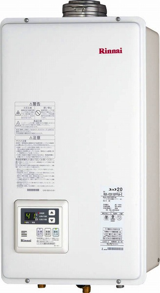 RUX-V2015SFFUA-E リンナイ ガス給湯器 給湯専用 20号 FE方式・屋内壁掛型