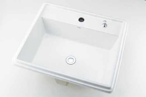 493-151H カクダイ 角型洗面器 1ホール・ポップアップ独立つまみタイプ
