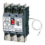 BJW37531573K パナソニック 太陽光発電システム用 単3中性線欠相保護付 漏電ブレーカ BJW-100N型 3P3E 75A 30mA