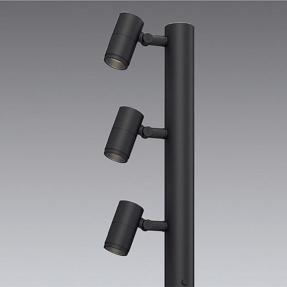 ERL8209H 遠藤照明 ポールヘッド D90 3灯用 超広角 LED