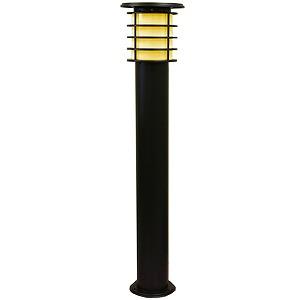 LED(電球色) ガーデンライト ソーラーライト システック SPL-10-ORB 黒 ポールライト