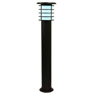 SPL-10-WHB システック ガーデンライト ソーラーライト ポールライト 黒 LED(白色)
