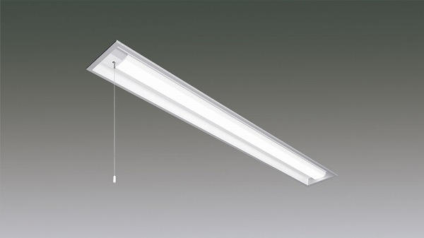 LX160F-32L-UK40-W170-PS アイリスオーヤマ ラインルクス ベースライト LED 40形 埋込型 プルスイッチ付 LED(電球色)