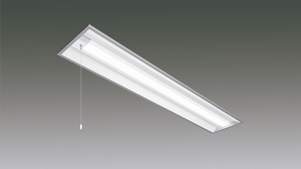 LX160F-43L-UK40-W240-PS アイリスオーヤマ ラインルクス ベースライト LED 40形 埋込型 プルスイッチ付 LED(電球色)