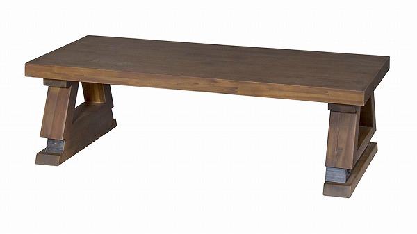 【メーカー直送】 ライアン センターテーブル ローテーブル ビンテージ ヴィンテージ レトロ アンティーク風 天然木