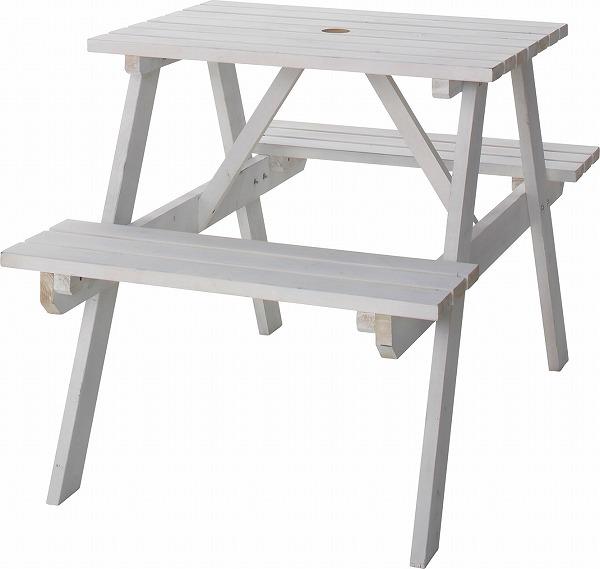 【メーカー直送】 テーブル&ベンチ W75 天然木