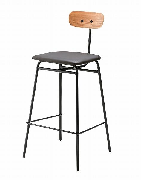 【メーカー直送】 ハイチェア 椅子 イス ソフトレザー ブラック