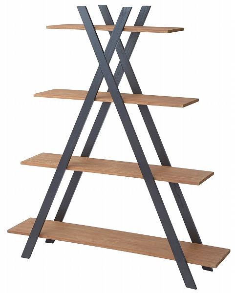 【メーカー直送】 シェルフ 4D 天然木 棚 飾り棚