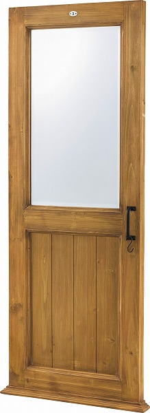【メーカー直送】 ミラー 鏡 壁掛け ドア型 天然木