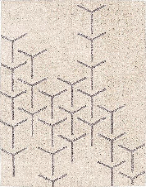 2316 Prevell ラグ カーペット マット スコープ 01_アイボリー 約190×240 cm