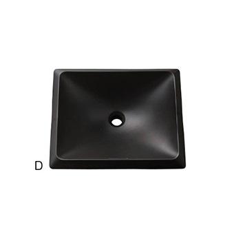 HW10251-D 三栄水栓 洗面器(信楽焼) D(ブラック) SANEI