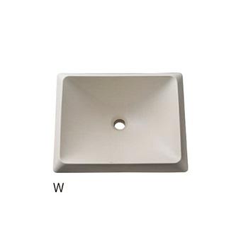 HW10251-W 三栄水栓 洗面器(信楽焼) W(ホワイト) SANEI
