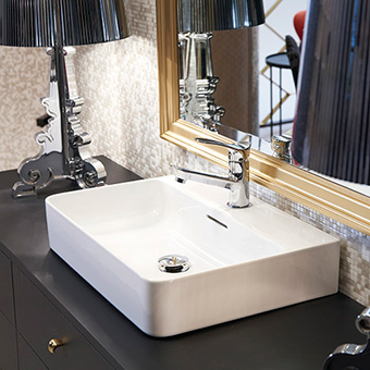 SL810282-W-104 三栄水栓 洗面器 壁付・カウンター両対応 W(ホワイト) SANEI