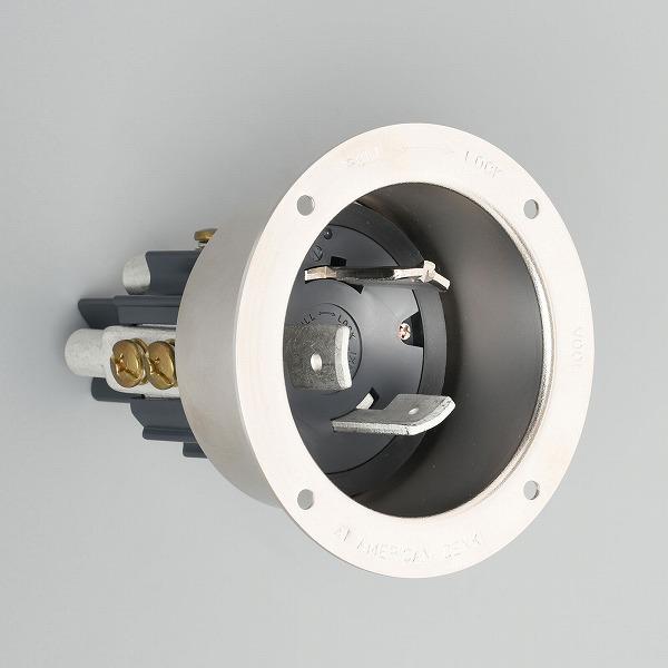 31065 アメリカン電機 引掛形 フランジインレット(メタルケース)