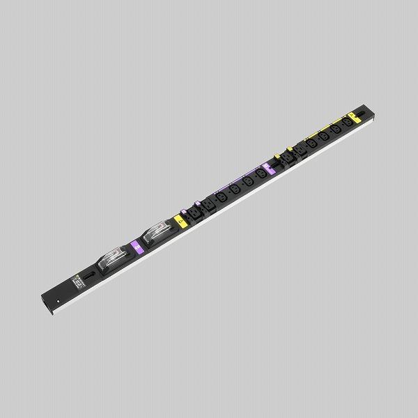 HA9122VS アメリカン電機 IEC C-13+C-19 コンセントバー12ケ口 スリム 0U 黒