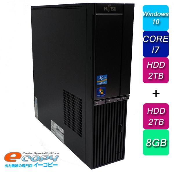 富士通 ESPRIMO DH77/G Corei7 HDD2TB+2TB 8GBメモリ BD-RE Office付き Windows10 デスクトップパソコン 中古パソコン