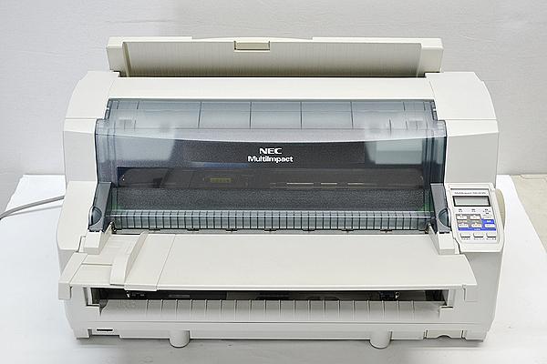 中古ドットプリンター 新品汎用インクリボン付NEC MultiImpact700JX3N 型番 PR-D700JX3N パラレル LAN 【中古】