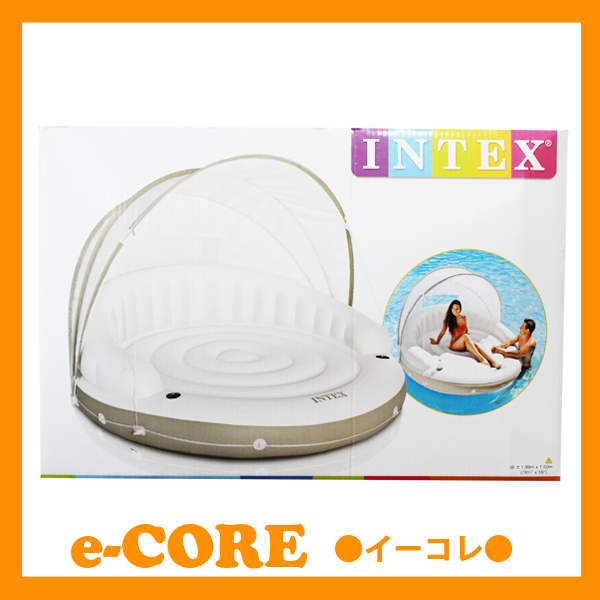 INTEX Intex canopy Island floating Jig float? s? t? s INTEX Intex vinyl pool and float.   sc 1 st  Rakuten & e-corecorp | Rakuten Global Market: INTEX Intex canopy Island ...