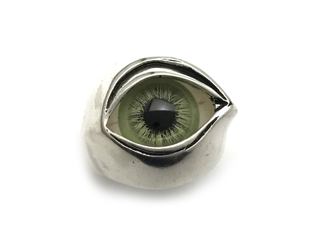 NECROMANCE(ネクロマンス)/Glass Eye Ring green 2(グラスアイリング グリーン2)