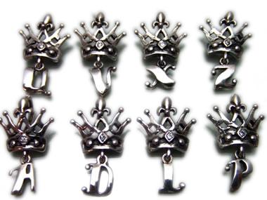 ROYAL ORDER(ロイヤルオーダー)/LETTER CROWN W 1 DIAMOND(レタークラウンw1ダイヤモンドペンダント)