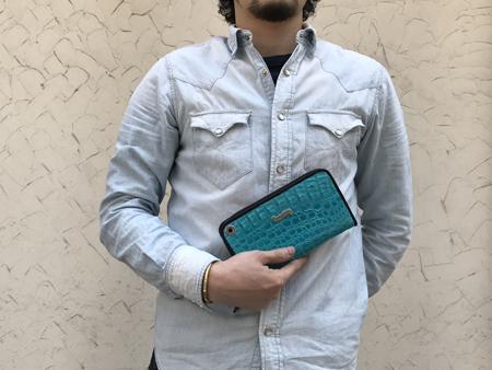 BILLWALLLEATHER ビルウォールレザーZipper Wallet CaimanジッパーウォレットカイマンJclK1FT3