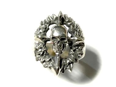 CRAZYPIG(クレージーピッグ)/Skull Wreath Ring(スカルリースリング)