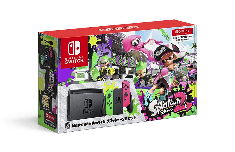 ★☆Nintendo / 任天堂 Nintendo Switch スプラトゥーン2セット 個人プラン3か月(90日間)利用券付 【ゲーム機】【送料無料】