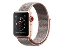★アップル / APPLE Apple Watch Series 3 GPS+Cellularモデル 38mm MQKL2J/A [ピンクサンドスポーツループ] 【ウェアラブル端末・スマートウォッチ】