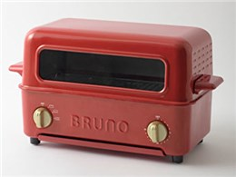 ★イデアインターナショナル BRUNO トースターグリル BOE033-RD [レッド] 【トースター】【送料無料】