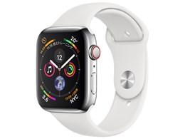 アップルAPPLE Apple Watch Series 4 GPS Cellularモデル 44mm MTX02J Aステンレススチールケース ホワイトスポーツバンドウェアラブル端末・スマートウォッチ1clJFK