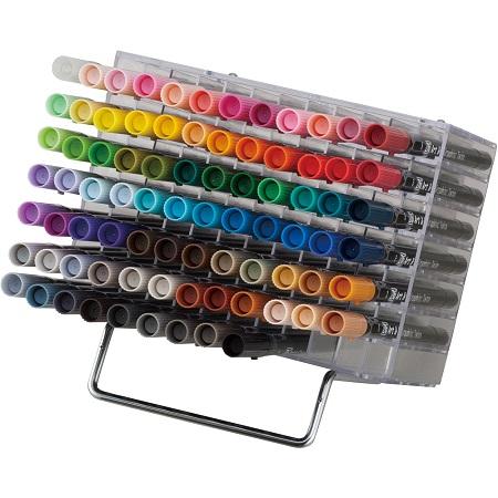 呉竹 マーカーペン ZIG アート&グラフィックツイン 80色+ブレンダー デスクトップスタンド サインペン 筆ペン ART&GRAPHIC TWIN