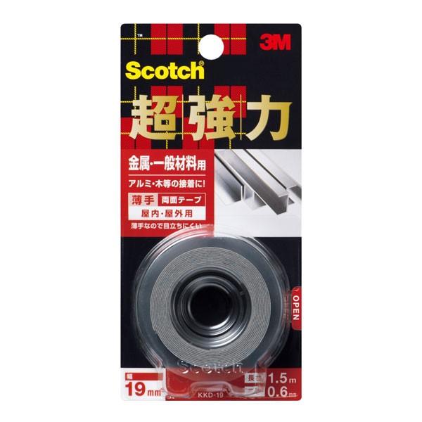 テープ スリーエム 3M DIY 超強力両面テープ 金属 KKD-19×60個 大箱
