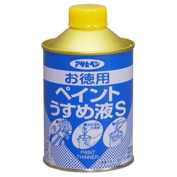 合成樹脂塗料 油性塗料の希釈や汚れの拭き取りに <セール&特集> 新作販売 アサヒペン 220ml 塗装補助剤 お徳用ペイントうすめ液S