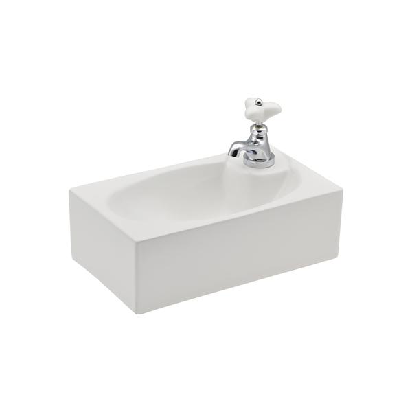 期間限定 どんな空間にも合うシンプルなデザインの壁掛手洗器と水栓セット GAONA 壁掛手洗器 GA-MA001 安全 水栓セット