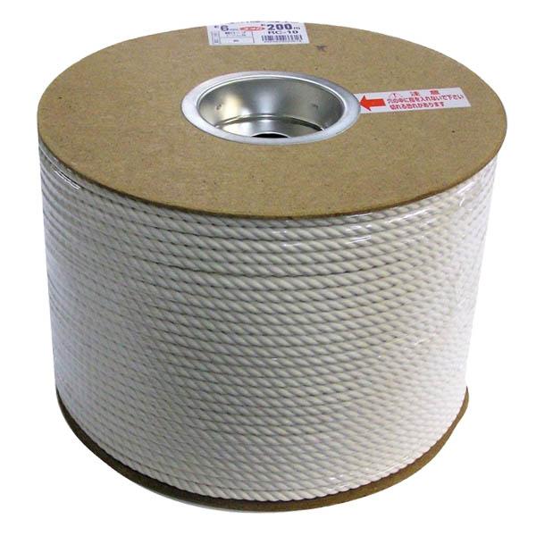 作業用品 ユタカメイク DIY 綿ロープ ドラム巻 6×200 RC-10