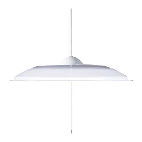 パナソニック直付吊下型LED(昼光色)ペンダントプルスイッチ付・プラスチックセードタイプ ~6畳LGB12501LE1