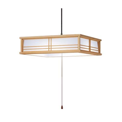 パナソニック直付吊下型LED(昼光色)ペンダントプルスイッチ付・プラスチックセードタイプ ~8畳LGB12605LE1