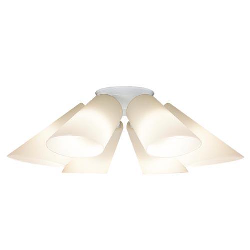 【法人様限定】パナソニック 天井直付型 LEDシャンデリア 電球色Uライト方式 40形6灯LGB57601K