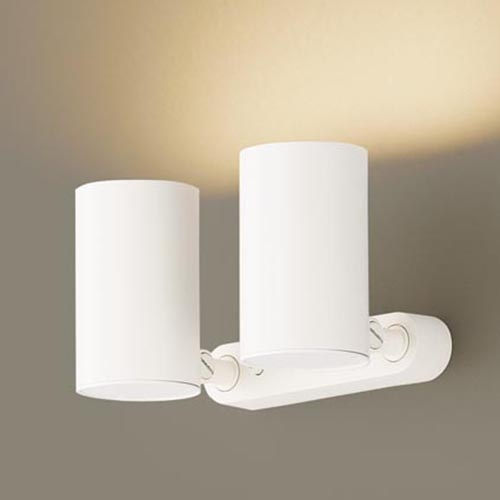 パナソニック天井直付型・壁直付型・据置取付型 LED(電球色) スポットライト アルミダイカストセードタイプ・拡散タイプ 調光タイプ(ライコン別売) 白熱電球60形2灯器具相当LGB84622KLB1