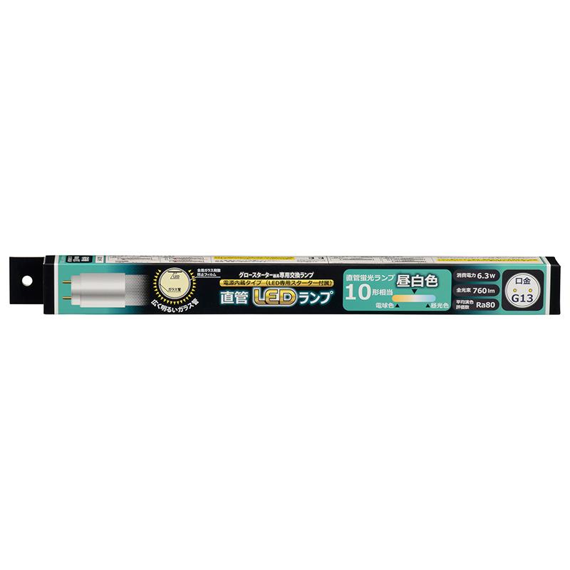【法人様限定】オーム電機 LDF10SS・N/6/7-U_12set 直管LEDランプ 10形相当 G13 昼白色 グロースターター器具専用×12本セット【送料無料】