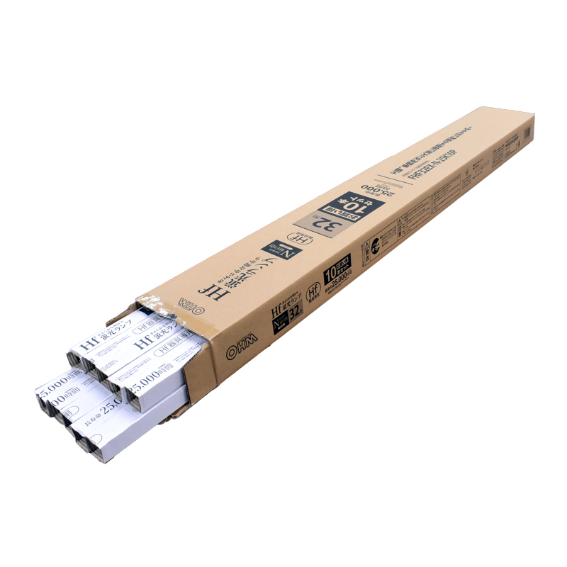 オーム電機 FHF32EX-N-25K10P 【法人様限定】直管蛍光ランプ Hf器具専用 32形 3波長形 長寿命 昼白色 10本セット [品番]06-4521