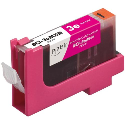 リーズナブルな価格の互換インクカートリッジ プレジール 汎用インク プリンター用交換インク 格安SALEスタート Plaisir キャノン タイムセール BCI-3eM互換 マゼンダ PLE-C03M インクカートリッジ