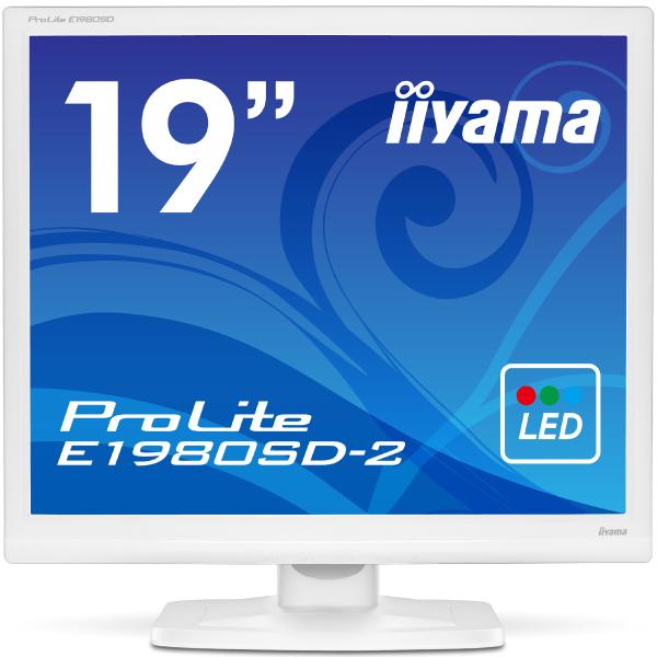 【送料無料】【新品】 iiyama 液晶モニター 19インチ 19型 スクウェア スクエア液晶ディスプレイ ノングレア(非光沢) HDCP対応 省エネモデル ピュアホワイト E1980SD-W2