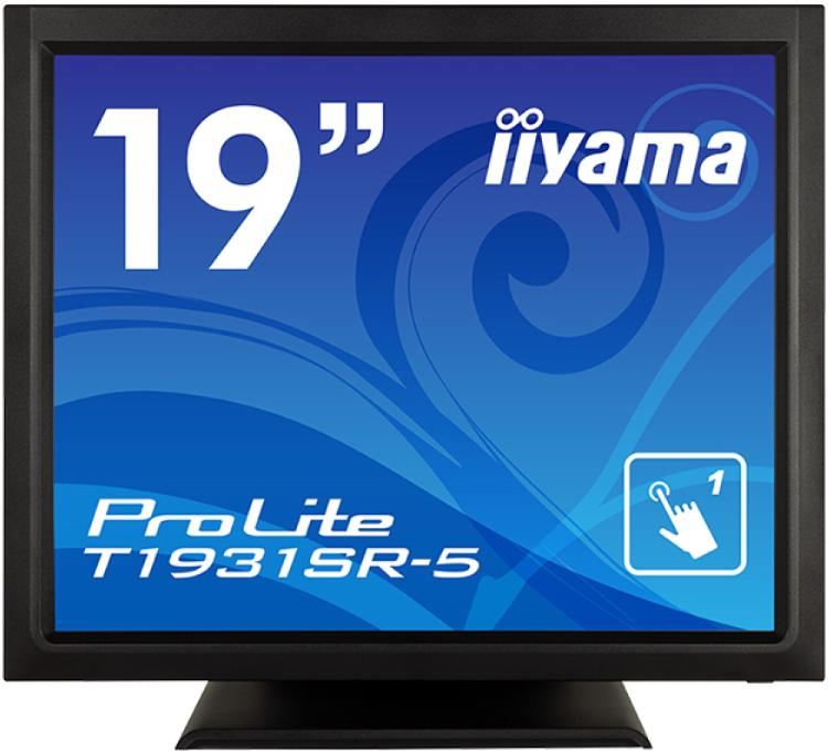 【送料無料】【新品】 iiyama 液晶モニター 19インチ 防塵・防滴 IP54対応 抵抗膜方式タッチパネル 液晶ディスプレイ アンチグレア ワイドレンジスタンドタイプ HDMI DisplayPort 19型 マーベルブラック ProLite T1931SR-B5