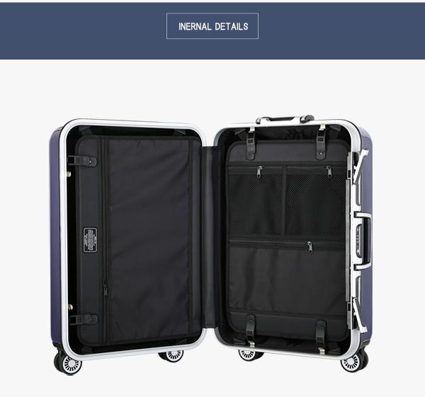 [1503] 軽量 (ラッキーシール対応) スーツケース 旅行かばん おしゃれ 1年保証 アルミ ABS 強化アルミフレーム Sサイズ TSAロック キャリーケース 【7月限定毎日20時から10%OFFクーポン】 丈夫 vangather 20インチ ポリカーボネート キャリーバッグ かわいい