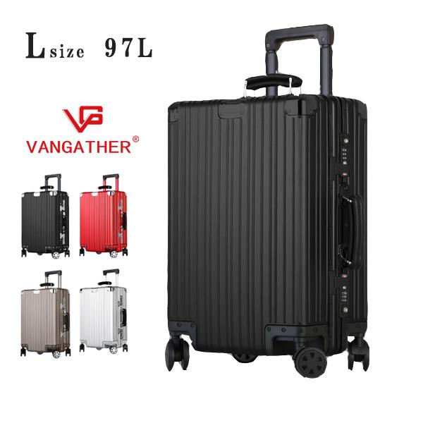 (エード創業31周年セール)スーツケース キャリーケース アルミ おすすめ ハード キャリーバッグ 4輪 vangather [6188-l] lサイズ 全4色 TSAロック 28インチ シルバー 5~7泊 旅行バッグ 大容量 送料無料