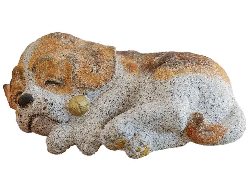 【限定品】 【国産】 【干支】 【置物】温かみのある磯貝彫刻の犬(いぬ)の石の彫刻品【送料無料】