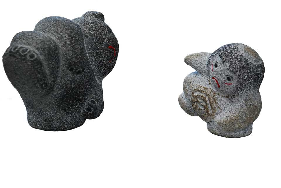 【限定品】 【国産】温かみのある磯貝彫刻 金太郎の彫刻品【送料無料】