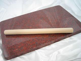 (こね台) 【送料無料】 インド赤磨き仕上げ 御影石ののし台