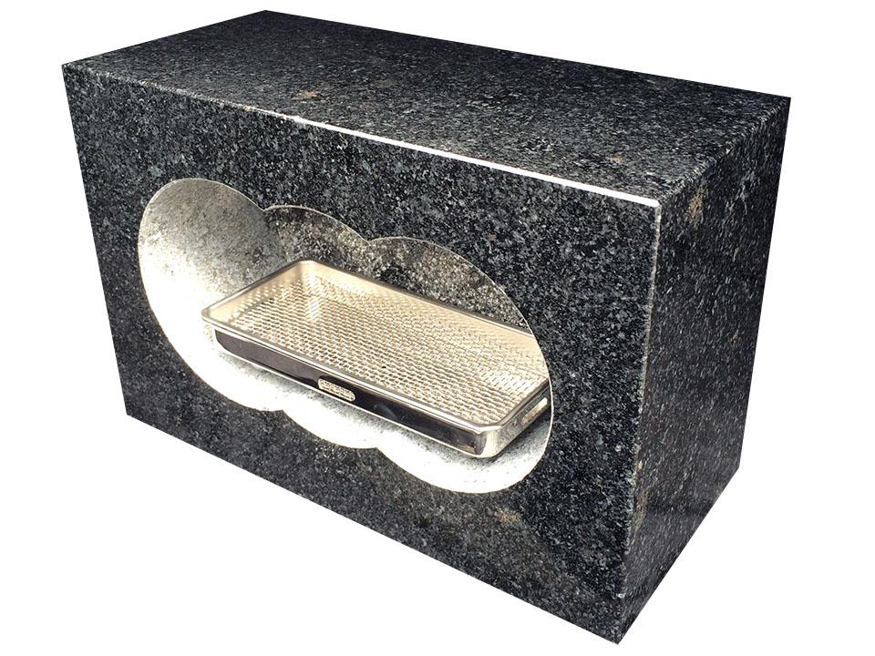 国産黒御影石(浮金石)模様少な目、角型香炉、4面磨きサイズ約幅30×奥行15×高さ21cm国産(福島県産)の黒御影石(浮金石)を茨城県の自社工場で加工しました。【空気穴加工】【ステンレス受皿付】※浮金石特有の模様がありますので予めご了承下さい。, 邑南町:8706e40e --- incor-solution.net